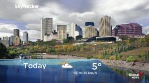 Edmonton early morning weather forecast: Friday, September 14, 2018